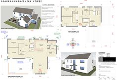 New homes and house extension projects by Edge Architecture - CORK ARCHITECTS including work for Carbery, OPW, Coilte House Plans Uk, Model House Plan, Farmhouse Floor Plans, Farmhouse Ideas, House Designs Ireland, L Shaped House, Rural House, Passive House, Ground Floor Plan