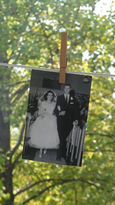 Loved sharing old wedding pictures at the anniversary party!