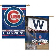 Chicago Cubs Banner 28x40 2 Sided 2016 World Series Champs