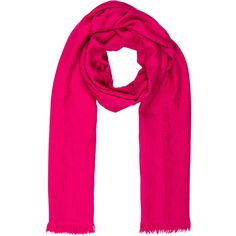 Pre-owned Herm?s Cashmere & Silk Shawl ($695) ❤ liked on Polyvore featuring accessories, scarves, pink, pink cashmere scarves, shawl scarves, pink scarves, hermès and pink silk scarves