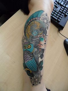 athena tattoos | Athena and owl Tattoo Picture