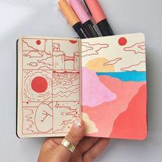 Kunstjournal Inspiration, Sketchbook Inspiration, Arte Sketchbook, Sketchbook Pages, Sketchbook Ideas, Sketchbook Project, Art Sketches, Art Drawings, People Drawings