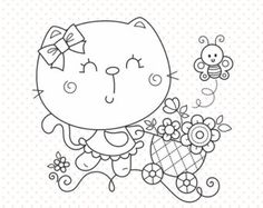 Hello! Welcome to my store!  Have fun creating with these beautiful stamps! My DIGITAL STAMPS are hand drawn black and white line art that can be used for Card Making, Scrapbook, Gift Tags, Embroidery, Invitations, Stickers, Cookie Decorating, and more!   {WHAT YOU GET} * 1 PNG file (transparent background, high resolution 300 dpi) * 1 JPG file (white background, high resolution 300 dpi) * All files saved separately and compressed together in a zip folder.   { SHOP AND DOWNLOAD INSTRUCTIONS…