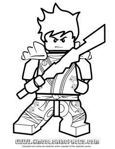 New Ninjago Coloring Pages | Ninjago Kai KX In Kimono Coloring Page