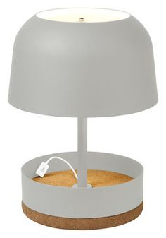 Hodge-Podge USB Table lamp - With USB port - H 39,5 cm Off white by Forestier - Design furniture and decoration with Made in Design