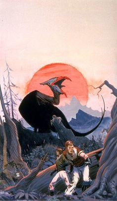 A preliminary concept by Michael Whelan for Marion Zimmer Bradley's The Bloody Sun. 70s Sci Fi Art, Soul Art, Sci Fi Fantasy, Art Day, Illustration Art, Illustration Pictures, Insta Art, Beast, Creatures