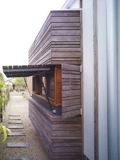 Contemporary Home Contemporary Shutters Design Ideas, Pictures, Remodel, and Decor Contemporary Shutters, Modern Shutters, House Shutters, Wood Shutters, Window Shutters, Wood Siding, Window Awnings, Diy Pergola, Ideas