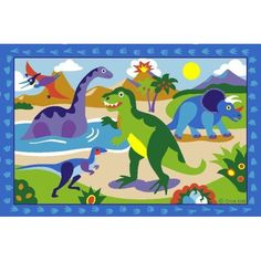 Fun Rugs childrens rugs - Olive Kids Dinosaurland Dinosaur Rug - x - 3958 - Plain and Simple Deals - no frills, just deals Dinosaur Land, Dinosaur Design, Dinosaur Crib Bedding, Baby Crib Bedding, Kids Area Rugs, Childrens Rugs, Cool Rugs, Dinosaurs, Parties