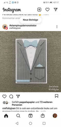 Birthday Cards For Boys, Masculine Birthday Cards, Masculine Cards, Boy Birthday, Men's Cards, Stampin Up Cards, Suit And Tie, Stamping Up, Creative Cards