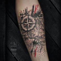 Trash Polka tattoo on forearm by Stas Monkfish - Tattoo MAG Half Sleeve Tattoos Forearm, Lion Tattoo Sleeves, Wolf Tattoo Sleeve, Half Sleeve Tattoos For Guys, Cool Arm Tattoos, Small Tattoos For Guys, Tattoo Sleeve Designs, Forearm Tattoo Men, Tattoo Designs Men