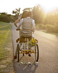 I want this only with a tandem bicycle...