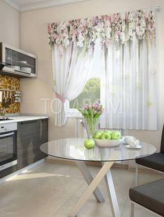Купить комплект штор «Зифора» розовый, мультиколор, белый по цене 3500 руб. с доставкой по Москве и России - интернет-магазин «ТомДом»