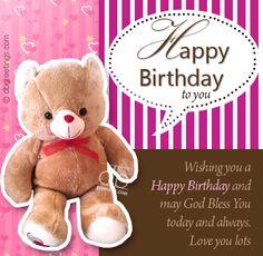 Bear Birthday Cards