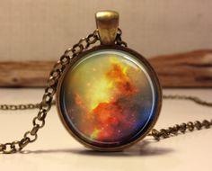 Nebula Galaxy Necklace Space Jewelry Art by Hadaskolcollection, $12.95