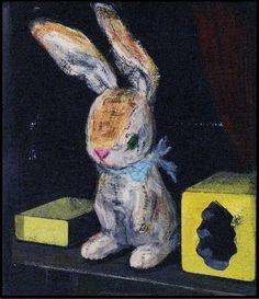 絵本「ビロードのウサギ」の表紙。古典的な名作を酒井駒子さんが絵本にしました。