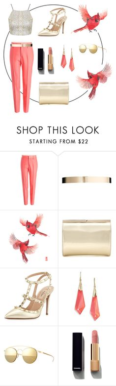 """""""Untitled #99"""" by asena-cakmak ❤ liked on Polyvore featuring Marc Jacobs, ASOS, Jimmy Choo, Valentino, Alexis Bittar, Mykita and Chanel"""