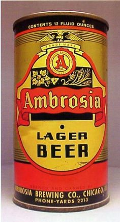 Ambrosia Lager Beer , Chicago / F.T