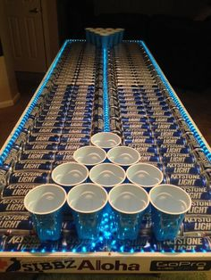Keystone Light Beer Pong Table | Jimmy's 60 party | Pinterest ...