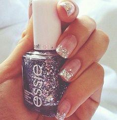 Sparkly nail art