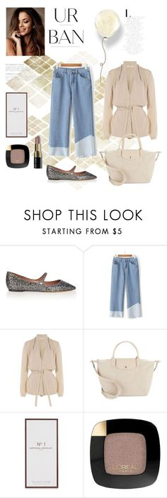"""urban with style"" by gabrielleleroy ❤ liked on Polyvore featuring Tabitha Simmons, WithChic, Etro, Longchamp, Artisan Du Chocolat, L'Oréal Paris and Bobbi Brown Cosmetics"