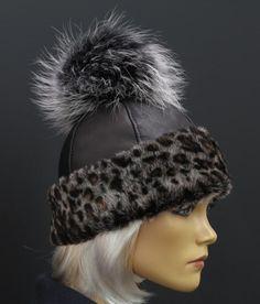 Kožešinová čepice s velkou bambulí z mývalovce - český výrobek #fur#hat Winter Hats, Beanie, Fashion, Moda, Fashion Styles, Beanies, Fashion Illustrations, Beret