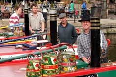UK narrowboat culture ... Here's a shot from the Nottingham Canal Boat Festival.