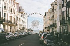 Great view of the Brighton Eye from Kemptown Brighton, England!