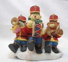 Christmas band figurine, soldier, bear, mouse - ships free in the US -  DECOR $30 ships free