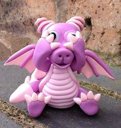 Polymer Clay  Dragon - Heidi by MistsofAzura on Etsy
