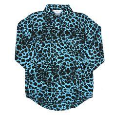 Rock 47 by Wrangler Girl's Leopard Long Sleeve Western Shirt