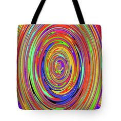 Color Drawing Abstract #7 Tote Bag by Tom Janca.  The tote bag is machine washable, available in three different sizes, and includes a black strap for easy carrying on your shoulder.  All totes are available for worldwide shipping and include a money-back guarantee.