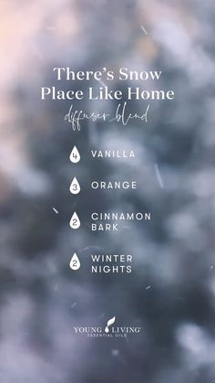 Essential Oil Blends For Colds, Fall Essential Oils, Cinnamon Essential Oil, Vanilla Essential Oil, Essential Oil Diffuser Blends, Young Living Essential Oils, Perfume, Autumn Fall, Winter
