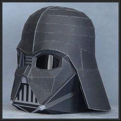 Star Wars - Darth Vader's Helmet Free Papercraft Download