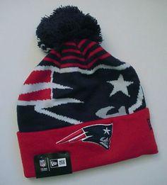 "New England Patriots ""Logo Whiz 2"" Knit Pom-Top Cap Authentic! New Era / NFL"