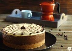 Cheesecake Mocaccina - caffè, cioccolato fondente e cioccolato bianco in una torta fredda, senza cottura, golosa, carina e dal gusto sorprendente !
