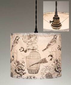 Canvas Plug In Pendant Light - Birdcages