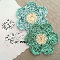 Crochet Flower Coaster Pattern Crochet Pattern by ProchetByEAS Crochet Art, Crochet Home, Love Crochet, Crochet Gifts, Beautiful Crochet, Crochet Doilies, Crochet Flowers, Crochet Mandala, Crochet Coaster Pattern