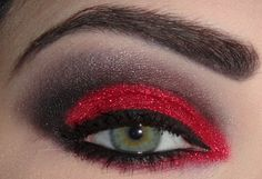 I like how she took the red color all the way around the inside of her eye...