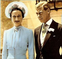 Wallis Blue-- The favorite color of Wallis Simpson, chosen for her wedding gown , seen here, for her marriage to the Duke of Windsor, formerly King Edward VIII.