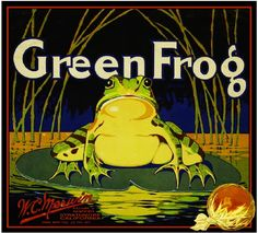 Strathmore, Tulare County Green Frog label