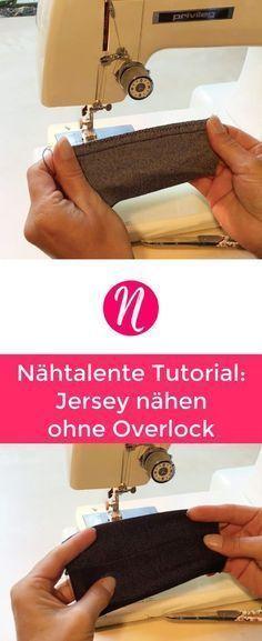 Jersey nähen ohne Overlock - Tipps & Tricks für die richtige Verarbeitung mit einer Nähmaschine. Lerne wie man mit einer normalen Nähmaschine perfekte Nähte bei elastischen Stoffen zu nähen - Nähtalente - Magazin für gratis Schnittmuster