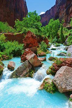 Turquoise, Havasupai, Arizona photo via wellington