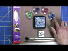 Using Distressing Inks with Perfect Pearls - YouTube