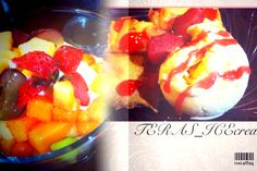 FruitySaladCreamy + DurianBudapestVanillaCream