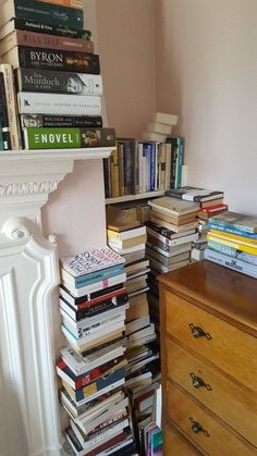 "I always have piles of ""homeless"" books too, despite having at least 12 book cases around the house. Book Aesthetic, Aesthetic Pictures, I Love Books, Books To Read, Study Motivation, Book Nooks, Book Photography, Book Nerd, My Room"