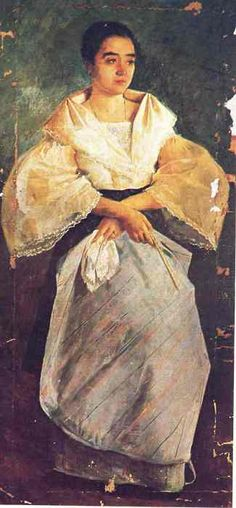 La Bulaqueña, painting by Filipino painter and political activist Juan Luna in 1895