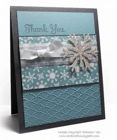 Winter Thank-You Card by mcalexab - Cards and Paper Crafts at Splitcoaststampers