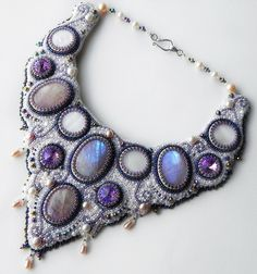 Beautiful embroidered jewelry by Alena Cilenticyriver(III)   Beads Magic