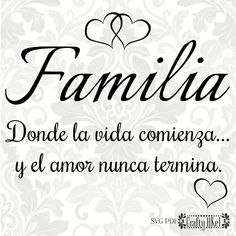 y el amor nunca termina. Family In Spanish, Love In Spanish, Family Love, Spanish House, Spanish Style, One Word Quotes, Bible Quotes, Quotes To Live By, Love Quotes