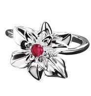Avon .925 Sterling Silver Poinsettia Ring size 8
